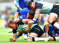 Rugby Union - 2019 pre-Rugby World Cup warm-up - Ireland vs. Italy<br /> <br /> Jordi Murphy (Ireland) is tackled by Alessandro Zanni (Italy) at The Aviva Stadium.<br /> <br /> COLORSPORT/KEN SUTTON