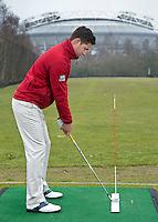AMSTYERDAM - Instructie met Thomas Merkx van John Woof Golf Academy , op de Amsterdam Old Course. FOTO KOEN SUYK