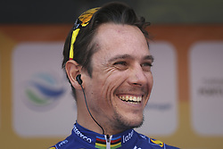 February 14, 2018 - Lagos, Portugal - Philippe Gilbert of Quick-Step Floors before the 1st stage of the cycling Tour of Algarve between Albufeira and Lagos, on February 14, 2018. (Credit Image: © Str/NurPhoto via ZUMA Press)
