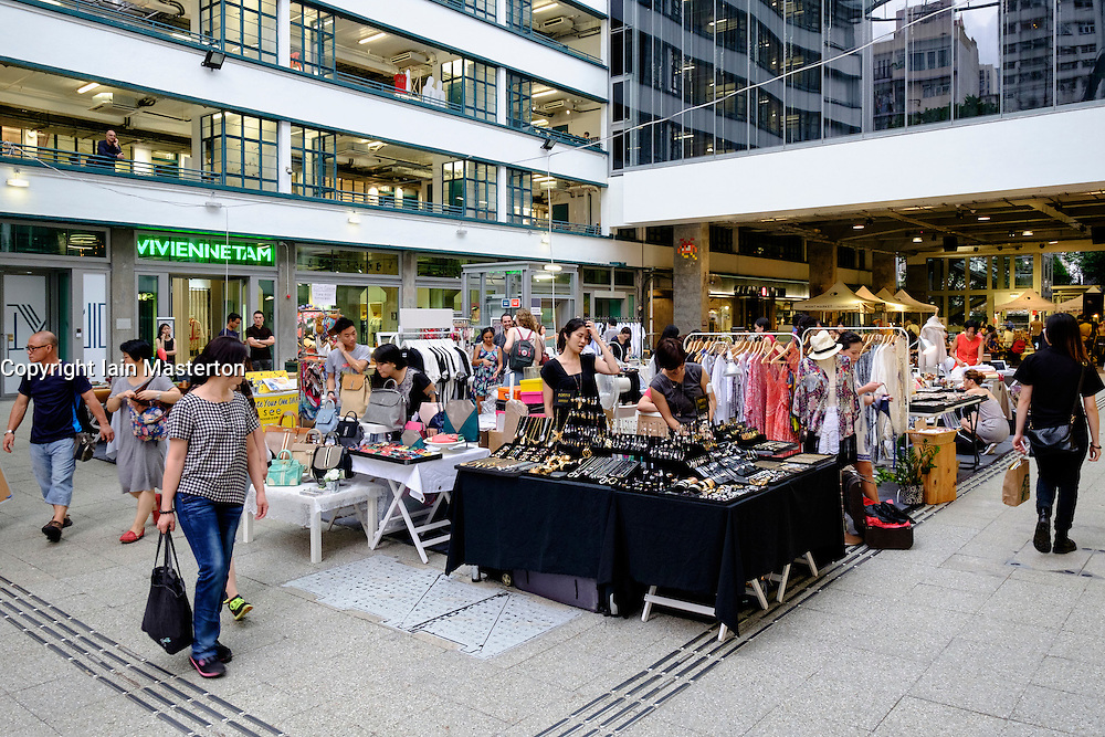 The Aberdeen Courtyard and Market place at PMQ in Staunton Street is a new creative centre for pop up shops and hub for creative and design industries  in Hong Kong