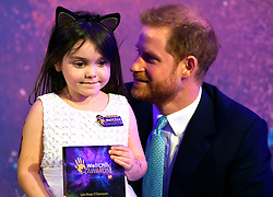 The Duke of Sussex poses for a photograph with award winner Lyla-Rose O'Donova during the annual WellChild Awards at the Royal Lancaster Hotel, London.