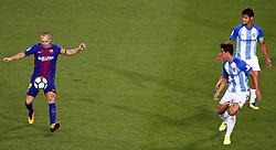 October 21, 2017 - Barcelona, Catalonia, Spain - Andres Iniesta during La Liga match between FC Barcelona v Malaga CF, in Barcelona, on October 21, 2017. (Credit Image: © Joan Valls/NurPhoto via ZUMA Press)