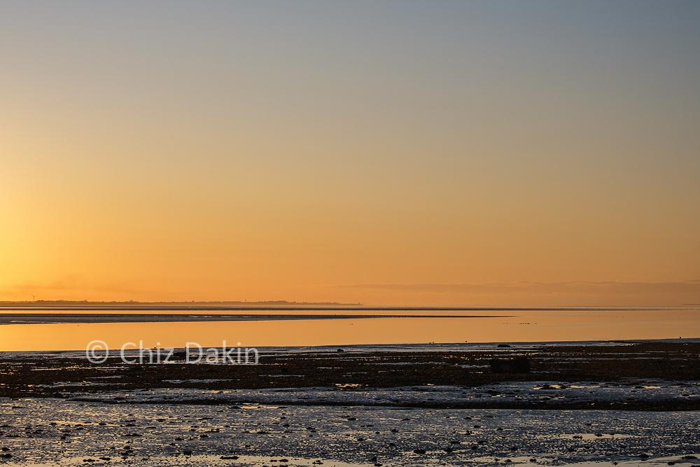 Golden light over Cockerham sands - looking towards Fleetwood