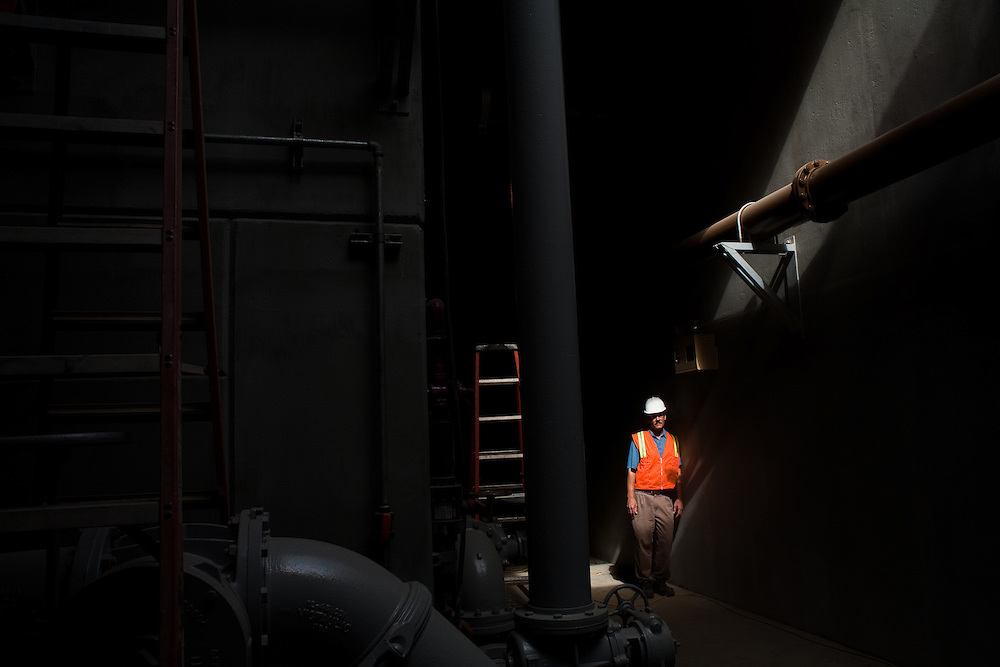 A seondary plant currently under construction at the Internation Border Water Comission's wastewater treatment facility will treat waste water in a biological process in addition to the chemical process currently in use.  Steve Smullen is the IBWC Area Projects Manager in San Diego.