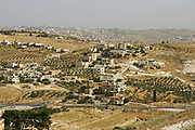 Israel, West Bank, Palestinian Village in the Judaea desert, as seen from Herodion a castle fortress built by King Herod 20 B.C.E.