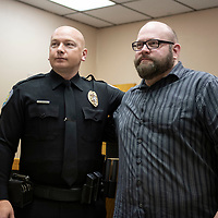 Officer Douglas Hoffman, left, and Casey Franchot, right,  were honored for their actions Dec. 8 when they responded to an eight month old girl shot at the Zia Motel. They were presented with life saving awards Wednesday, Jan 23 at the Gallup Police Department.