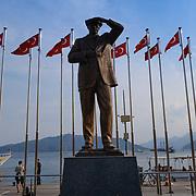 Statue of Kemal Ataturk in Marmaris, Turkey