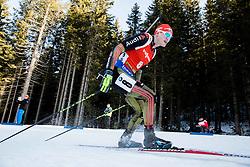 Benedikt Doll (GER) competes during Men 12,5 km Pursuit at day 3 of IBU Biathlon World Cup 2015/16 Pokljuka, on December 19, 2015 in Rudno polje, Pokljuka, Slovenia. Photo by Vid Ponikvar / Sportida