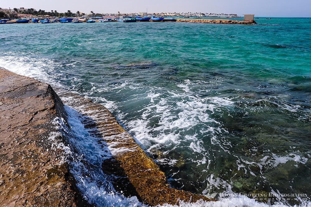 Egypt, Hurghada. Close to beach belonging to Triton Hotel, coastline.