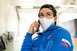 Primoz Roglic of Team Slovenia calling his girlfriend Lora after the Men Elite Road Race at UCI Road World Championship 2020, on September 27, 2020 in Imola, Italy. Photo by Vid Ponikvar / Sportida