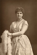 'Anna Williams, eminent English oratora singer of the last quarter of the 19th century, pictured c1890. At the end of the century she retired from the platform to concentrate on teaching.'