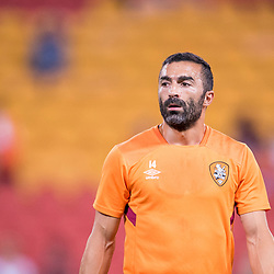 BRISBANE, AUSTRALIA - OCTOBER 13: Fahid Ben Khalfallah of the Roar looks on during the Round 2 Hyundai A-League match between Brisbane Roar and Adelaide United on October 13, 2017 in Brisbane, Australia. (Photo by Patrick Kearney)