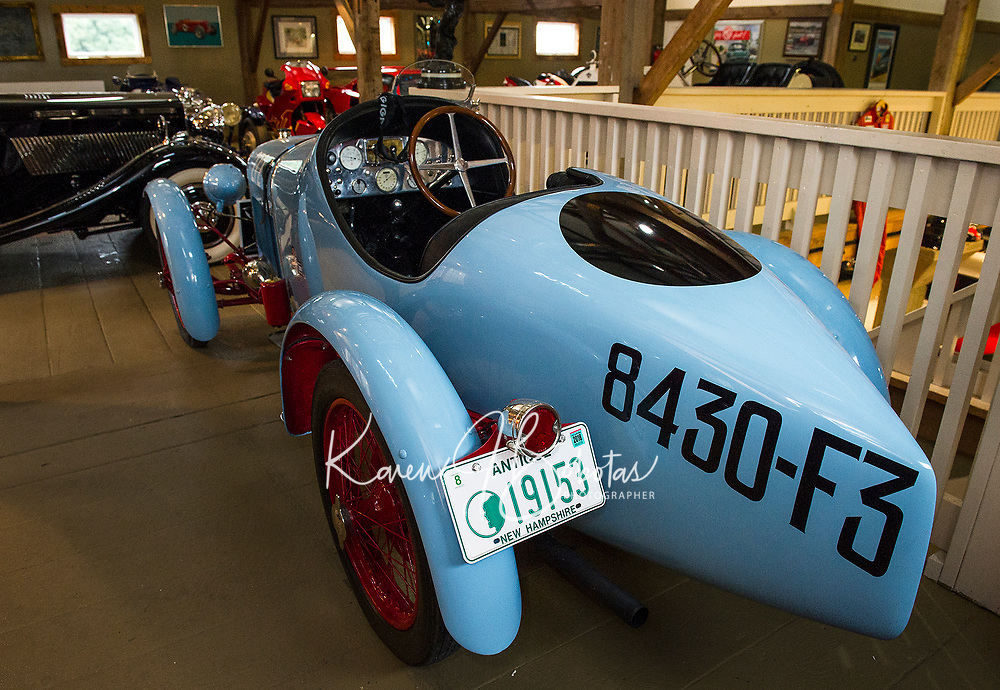 1927 Amilcar CGSS will be part of the display of antique race cars from Nick Grewal's collection during the Antique Car Show for the Boys and Girls Club in July.  (Karen Bobotas/for the Laconia Daily Sun)