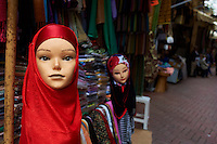 Maroc, Tanger, souk de la Medina // Morocco, Tangier (Tanger), market on the old city