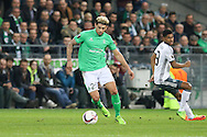 Saint-Etienne Defender Kevin Malcuit during the Europa League match between Saint-Etienne and Manchester United at Stade Geoffroy Guichard, Saint-Etienne, France on 22 February 2017. Photo by Phil Duncan.