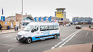 EMBARGOED 00:01 Wednesday 22nd February; 2017.<br /> <br /> An Oomph! minibus pictured on the seafront in Southsea, Hampshire. 100,000s of old and vulnerable people will enjoy new Out and About excursions after Oomph! announces nationwide expansion plans today (Wednesday 22nd February).<br /> Out and About tackles a lack of outings for people in care settings due to social care funding cuts. Innovative model offers economies of scale on excursion planning, transport and conductors across care settings in an area.<br /> 80 Out and About minibuses will hit the road in first year thanks to £1.5million investment from Mike Parsons, Care and Wellbeing Fund and Nesta Impact Investments.<br /> Photograph by Christopher Ison ©<br /> 07544044177<br /> chris@christopherison.com<br /> www.christopherison.com