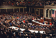 Washington, DC  1993/02/12 President William Clinton gives the State of the Union address <br /><br />Photograph by Dennis Brack