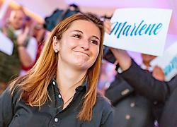 22.04.2018, Panzerhalle, Salzburg, AUT, Salzburger Landtagswahl, im Bild FPÖ Spitzenkandidatin Marlene Svazek // during the Salzburg state election 2018 at the Panzerhalle in Salzburg, Austria on 2018/04/22. EXPA Pictures © 2018, PhotoCredit: EXPA/ JFK