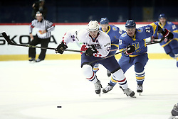 18.04.2016, Dom Sportova, Zagreb, CRO, IIHF WM, Ukraine vs Kroatien, Division I, Gruppe B, im Bild RENDULIC Borna, ISAYENKO Denys // during the 2016 IIHF Ice Hockey World Championship, Division I, Group B, match between Uraine and Croatia at the Dom Sportova in Zagreb, Croatia on 2016/04/18. EXPA Pictures © 2016, PhotoCredit: EXPA/ Pixsell/ Sanjin Strukic<br /> <br /> *****ATTENTION - for AUT, SLO, SUI, SWE, ITA, FRA only*****