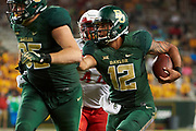 WACO, TX - SEPTEMBER 2:  Anu Solomon #12 of the Baylor Bears scrambles against the Liberty Flames during a football game at McLane Stadium on September 2, 2017 in Waco, Texas.  (Photo by Cooper Neill/Getty Images) *** Local Caption *** Anu Solomon