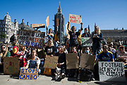Hundreds of young people in Parliament Square take part in a Global Climate Strike to demand intersectional climate justice on 24th September 2021 in London, United Kingdom. The Global Climate Strike was organised to highlight the detrimental influences through colonialism, imperialism and exploitation of the Global North on MAPA Most Affected Peoples and Areas, which have contributed to them now experiencing the worst impacts of the climate crisis, and to call on the Global North to pay reparations to MAPA.