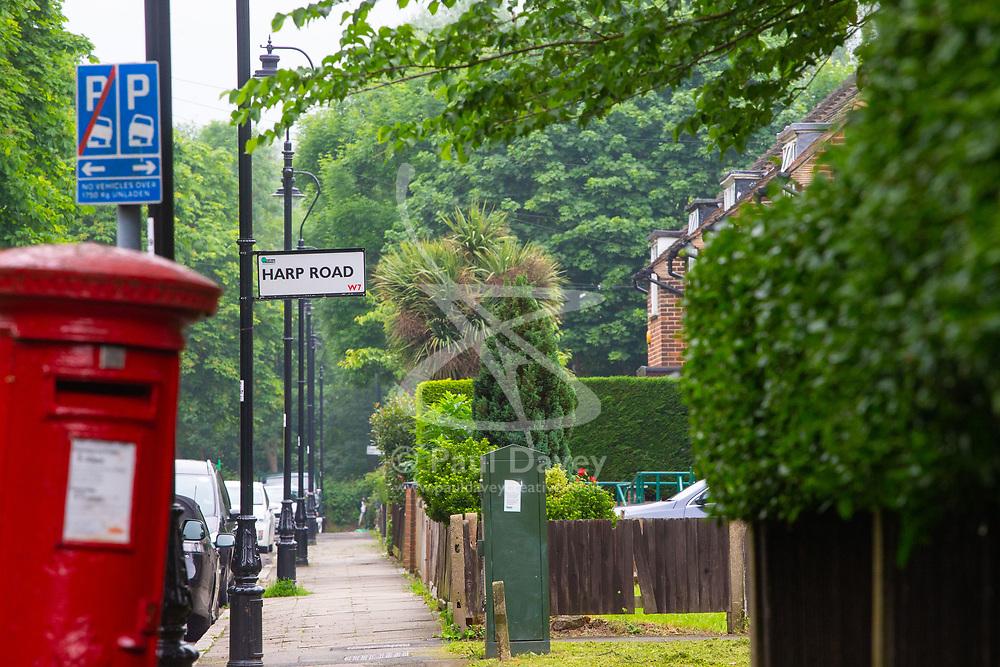 Royal Mail - Music themed streets - Harp Road, Ealing. London, May 30 2018.