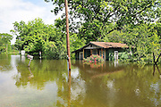 8/11/11} Vicksburg} -- Vicksburg, MS, U.S.A A house on Chicksaw road is filling with water from the Mississippi River  May 11,2011. Vicksburg a riverfront town steeped in war and sacrifice, gets set to battle an age-old companion: the Mississippi River. The city that fell to Ulysses S. Grant and the Union Army after a painful siege in 1863 is marshalling a modern flood-control arsenal to keep the swollen Mississippi from overwhelming its defenses. PHOTO©SUZIALTMAN.COM.Photo by Suzi Altman, Freelance.
