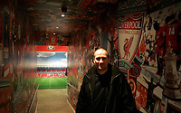 Photo: Paul Thomas.<br /> Photography of Norwegian Liverpool supporters at Anfield. 04/03/2007.<br /> <br /> Norwegian Liverpool supporter Einar Kvande.