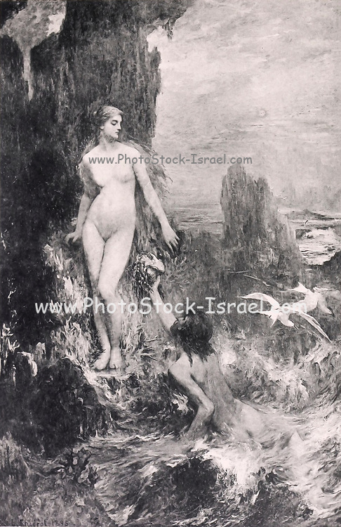 Venus et les Colombes [Venus and the Doves] by Moreau-Neretfrom Le Nu au Salon 1895 A collection of Nude photography published in Paris in 1908 by Societe nationale des beaux-arts (France). et Societe des artistes francais. Catalogues of nudes exhibited at the official Paris Salons. Risqué photography is material that is slightly indecent or liable to shock, especially as sexually suggestive.