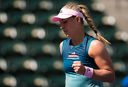 March 9, 2019 - Indian Wells, USA - Angelique Kerber of Germany in action during her second-round match at the 2019 BNP Paribas Open WTA Premier Mandatory tennis tournament (Credit Image: © AFP7 via ZUMA Wire)