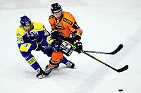 Ishockey , 11.  januar 2015 , Get-ligaen<br /> Frisk Asker - Storhamar<br /> Linus Johansson , Storhamar<br /> Mikael Dokken , Frisk