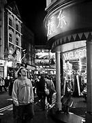 Londyn, 2009-10-23. Chińska dzielnica nocą Londyn, Soho