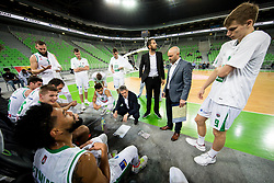 Zoran Martic, coach of Petrol Olimpija during basketball match between KK Petrol Olimpija and KK Hopsi Polzela in Round #2 of Liga NovaKBM 2018/19, on October 21, 2018, in Arena Stozice, Ljubljana, Slovenia. Photo by Vid Ponikvar / Sportida
