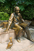 Hans Christian Andersen and Ugly Duckling, Central Park, Manhattan, New York