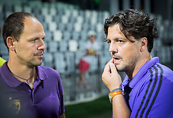 Ante Simundza, head coach of Maribor and Zlatko Zahovic, sports director of Maribor after the Super Cup 2015 football match between FC Luka Koper and NK Maribor, on July 5, 2015 in Stadium Bonifika, Koper,  Slovenia. Photo by Vid Ponikvar / Sportida