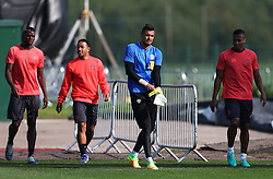 Sergio Romero of Manchester United walks out to train with team mates - Mandatory by-line: Matt McNulty/JMP - 14/09/2016 - FOOTBALL - Manchester United - Training session ahead of Europa League Group A match against Feyenoord