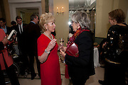 LADY RAYNE; SALLY ASPINALL, Book launch of Lady Annabel Goldsmith's third book, No Invitation Required. Claridges's. London. 11 November 2009