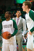 WACO, TX - JANUARY 7: Former Baylor Bears center Isaiah Austin looks on before tipoff against the Kansas Jayhawks on January 7, 2015 at the Ferrell Center in Waco, Texas.  (Photo by Cooper Neill/Getty Images) *** Local Caption *** Isaiah Austin