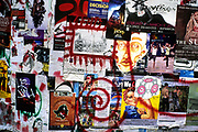Image of a wall of posters near the Pike Place Market in Seattle, Washington, Pacific Northwest by Randy Wells