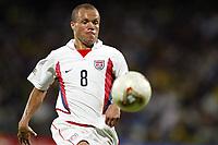 FOTBALL - CONFEDERATIONS CUP 2003 - GROUP B - BRASIL v USA - 030621 - EARNIE STEWART (USA) - PHOTO JEAN MARIE HERVIO /  DIGITALSPORT