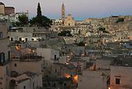 Panoramic view of Sasso Barisano at  dusk