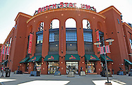General view of Busch Stadium before game four of the 2012 NLCS between the St. Louis Cardinals and the San Francisco Giants.