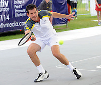 Brodies Champions of Tennis.<br /> Tim Henman takes on Wayne Goran Ivanisevic  in the third match of the tournament.<br /> Pic shows: Tim Henman in action.