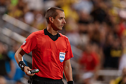 August 11, 2018 - Columbus, OH, U.S. - COLUMBUS, OH - AUGUST 11: Referee Mark Geiger prepares to mark the field in the MLS regular season game between the Columbus Crew SC and the Houston Dynamo on August 11, 2018 at Mapfre Stadium in Columbus, OH. The Crew won 1-0. (Photo by Adam Lacy/Icon Sportswire) (Credit Image: © Adam Lacy/Icon SMI via ZUMA Press)