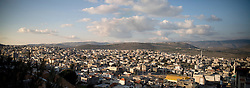 A panoramic of Israeli soccer star Abbas Suan's home town of Sakhnin, Israel, Feb. 1, 2006. An Israeli-Arab, Suan still faces criticism and racism resulting from the unsettled conflict between the Israelis and Palestinians.