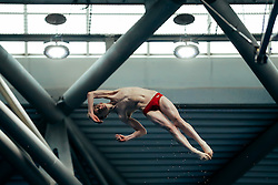Owen Harrison from Coty of Sheffield Diving Club competes in the Mens 10m Platform Preliminary - Mandatory byline: Rogan Thomson/JMP - 12/06/2016 - DIVING - Ponds Forge - Sheffield, England - British Diving Championships 2016 Day 3.