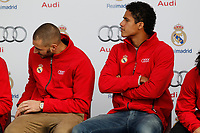 Karim Benzema participates and receives new Audi during the presentation of Real Madrid's new cars made by Audi in Madrid. December 01, 2014. (ALTERPHOTOS/Caro Marin)