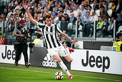April 22, 2018 - Turin, Piedmont/Turin, Italy - Mario Mandzukic durig the Serie A match Juventus FC vs Napoli. Napoli won 0-1 at Allianz Stadium, in Turin, Italy 22nd april 2018 (Credit Image: © Alberto Gandolfo/Pacific Press via ZUMA Wire)