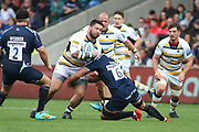 Sam Lewis Worcester Warriors during the Gallagher Premiership Rugby match between Sale Sharks and Worcester Warriors at the AJ Bell Stadium, Eccles, United Kingdom on 9 September 2018.