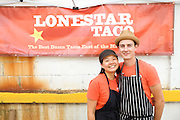 BROOKLYN, NY - SEPTEMBER 7, 2013: Tracie Lee and Wayne Surber of Lonestar Taco competed in the Markets competition at the annual Vendy Awards. CREDIT: Clay Williams for Serious Eats. <br /> <br /> <br /> © Clay Williams / http://claywilliamsphoto.com